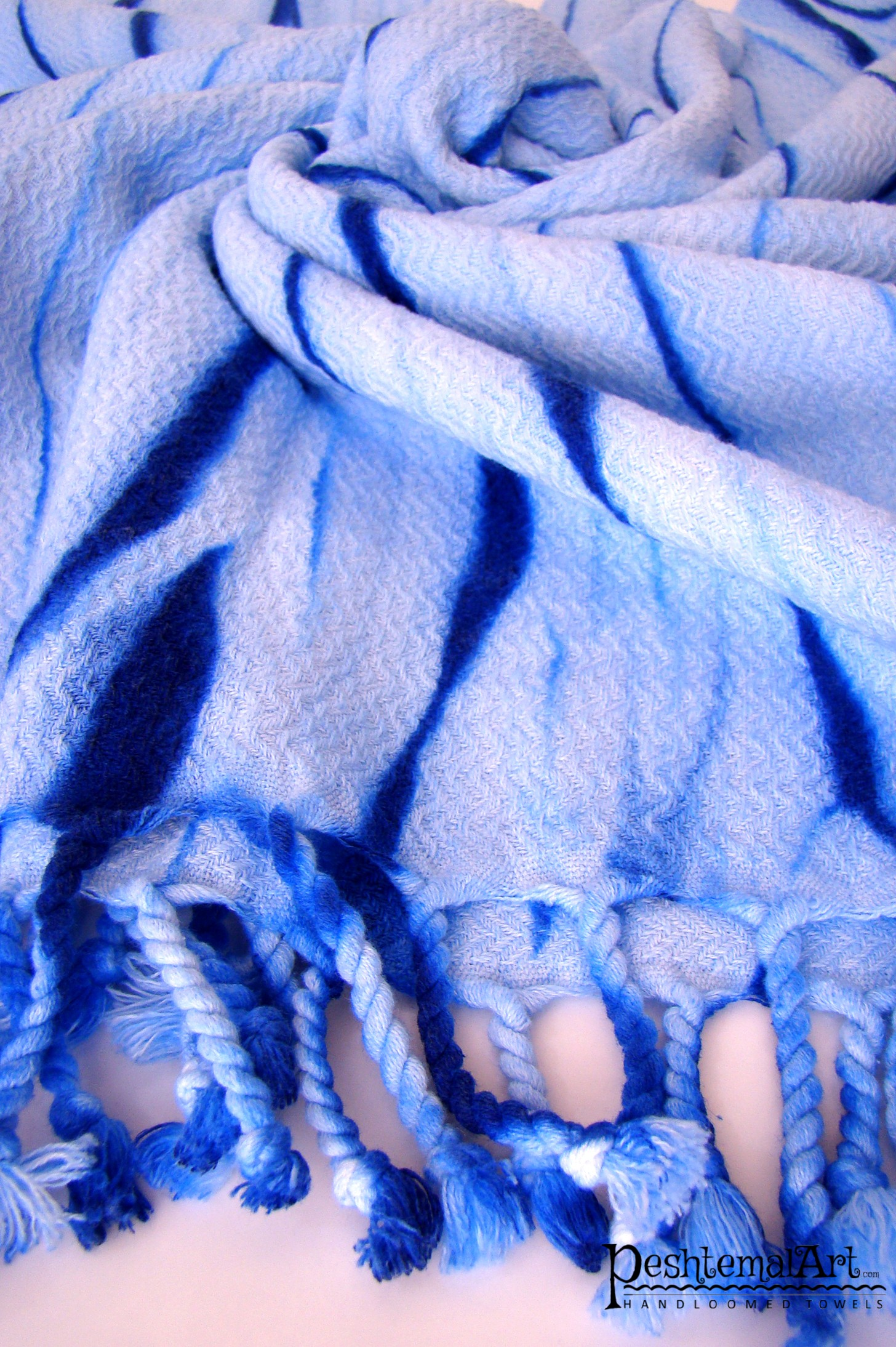 Blue Batik Beach Towel