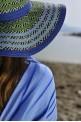 Blue Batik Beach Towel