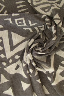 Black Jacquard Beach Towel