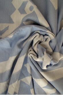 Blue Jacquard Beach Towel