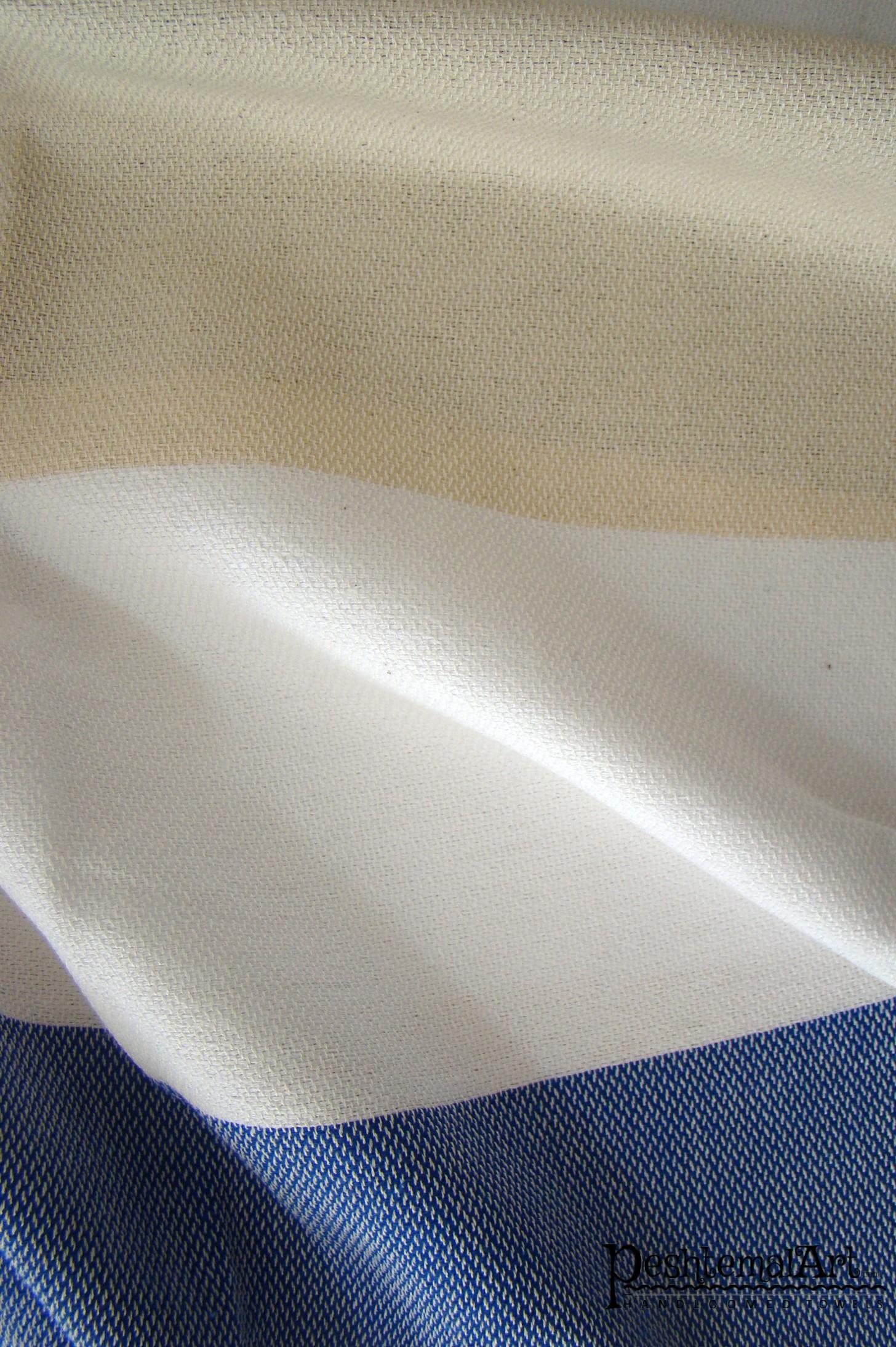 Metropol Beach Towel - Brown, Beige, Blue