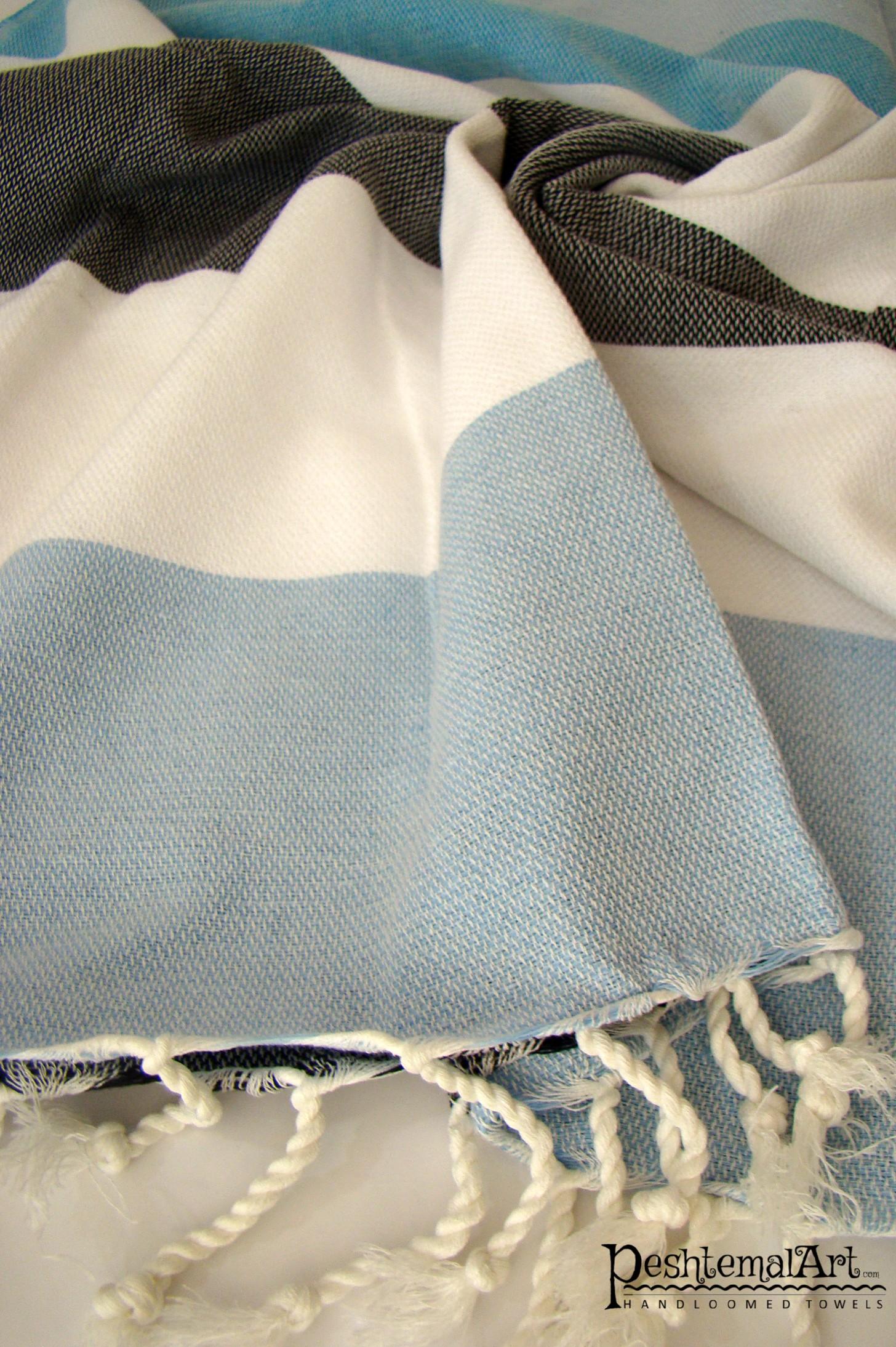 Metropol Beach Towel - Blue, Dark Blue, White