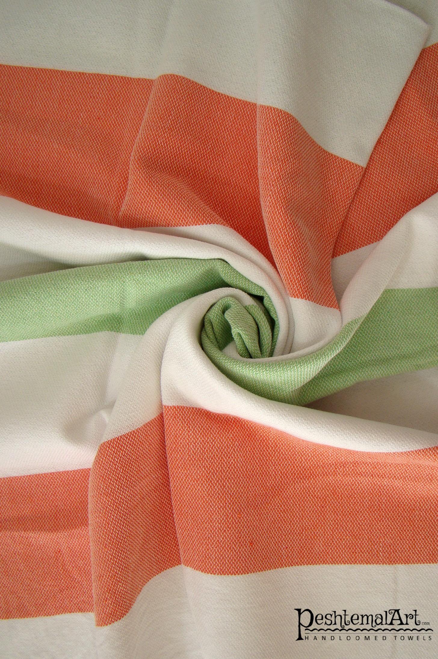 Metropol Beach Towel - Green, Orange, White