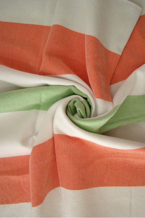 Metropol Beach Towel - Green, Orange, White