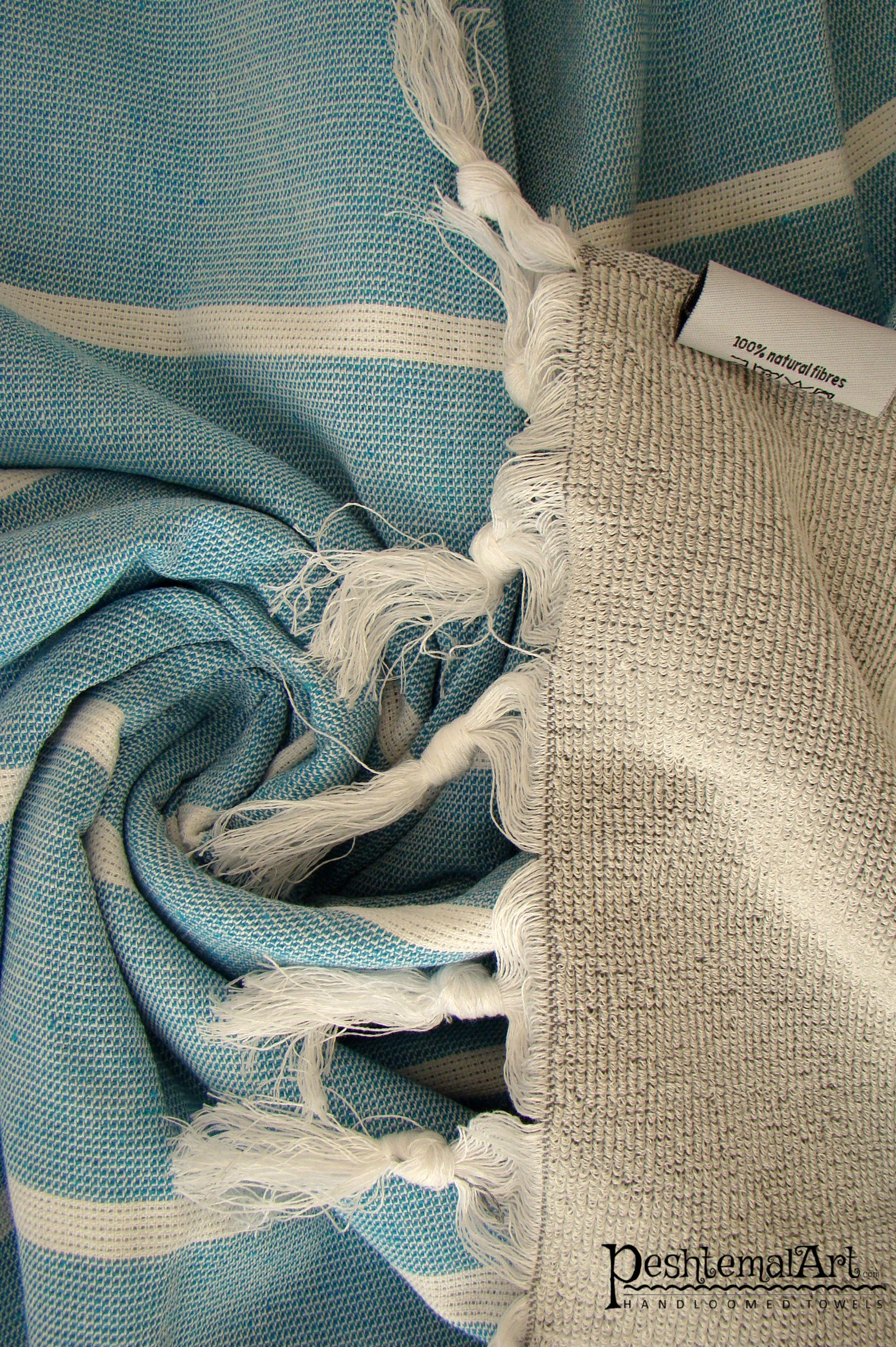 Terry Towel - Blue and Gray