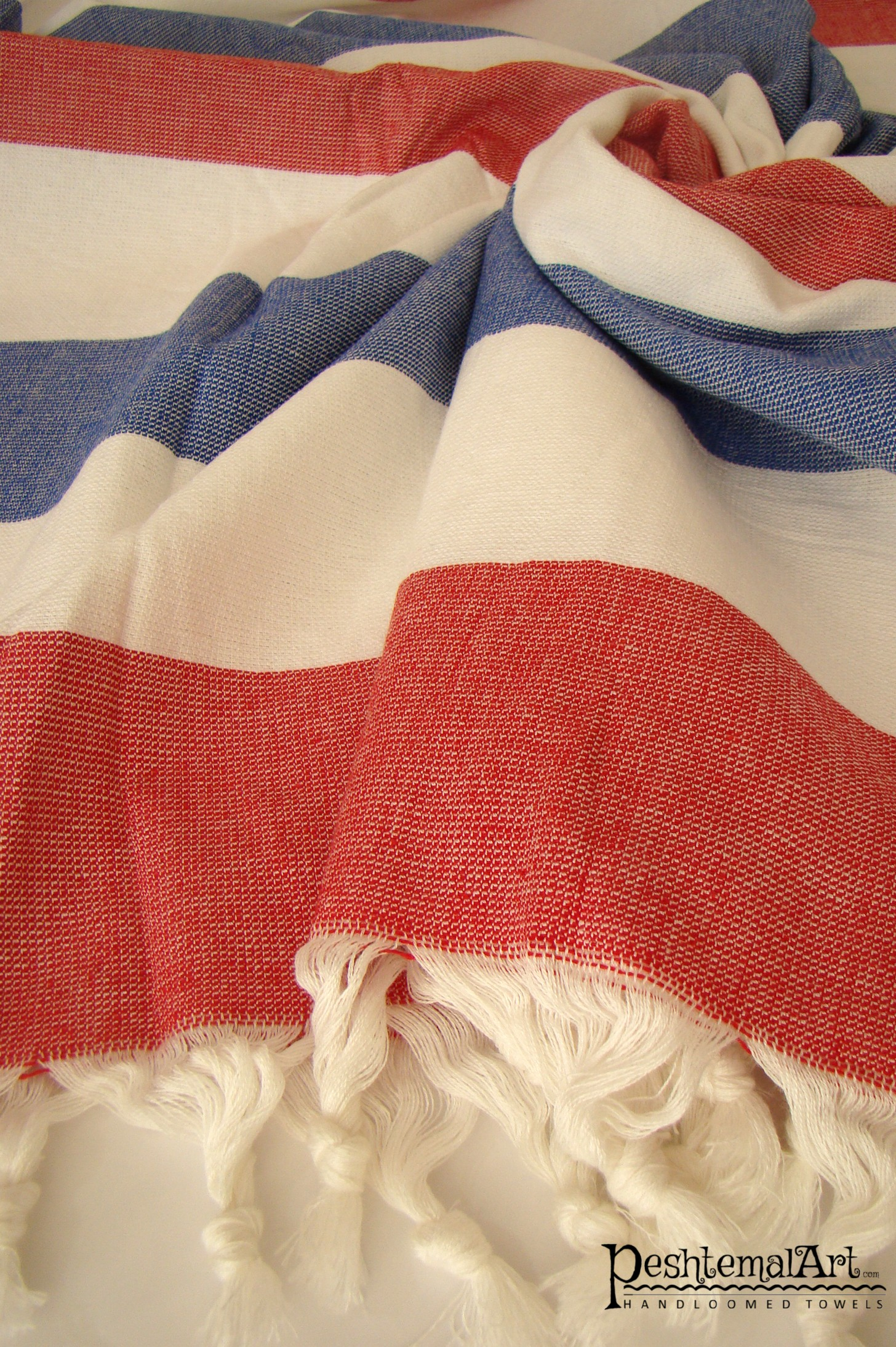 Terry Towel - Red and Blue