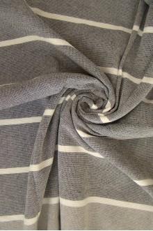 Terry Towel - Black & Gray