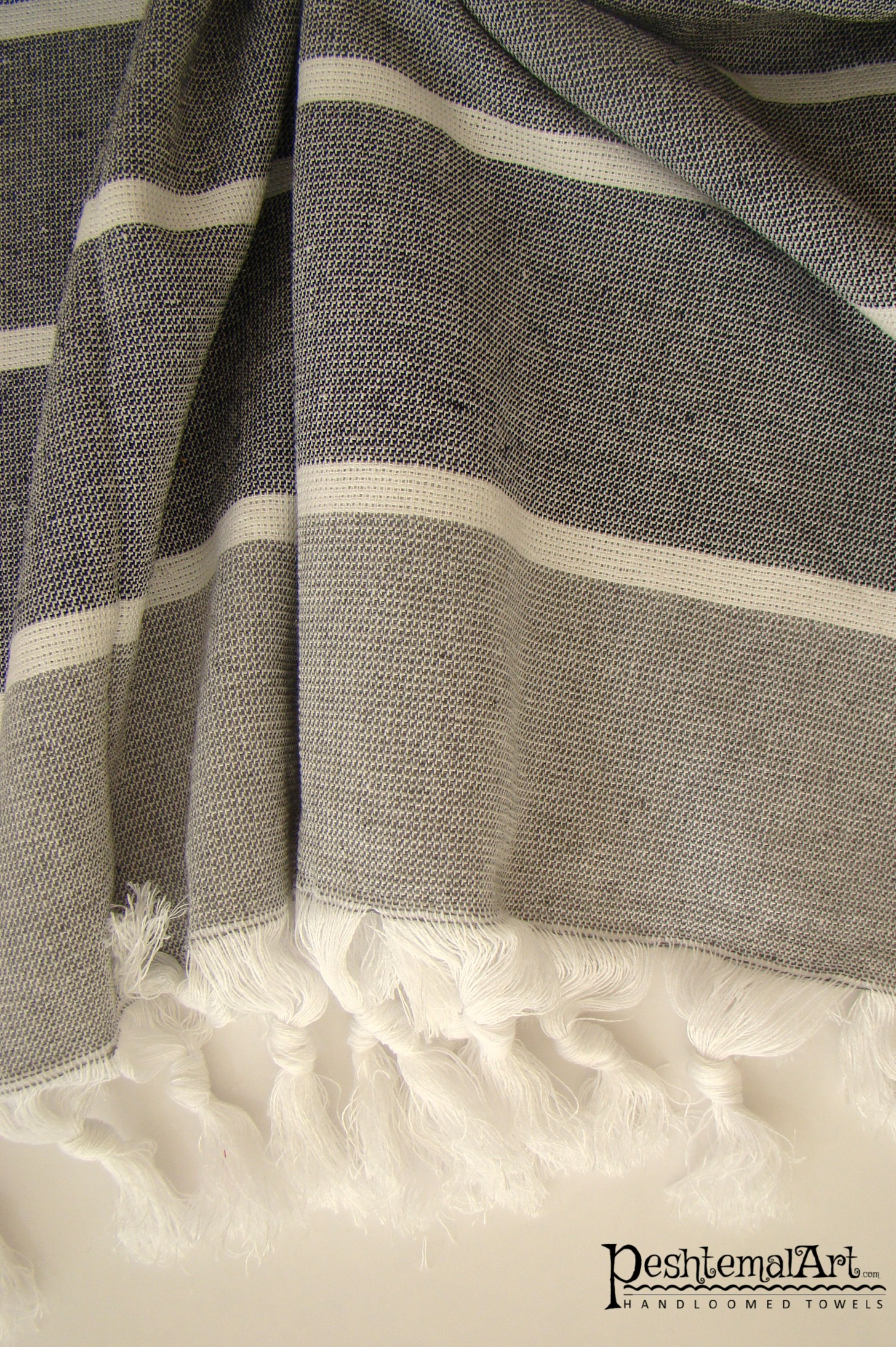 Terry Towel - Black & Gray