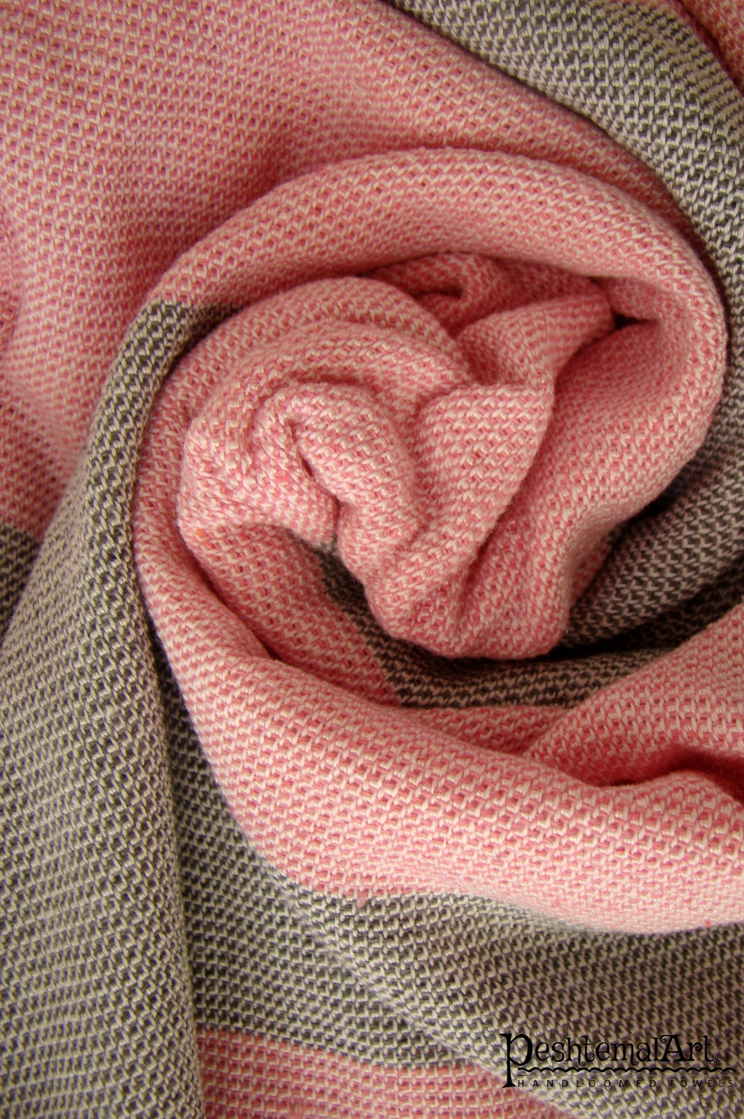 Terry Towel - Pink and Gray