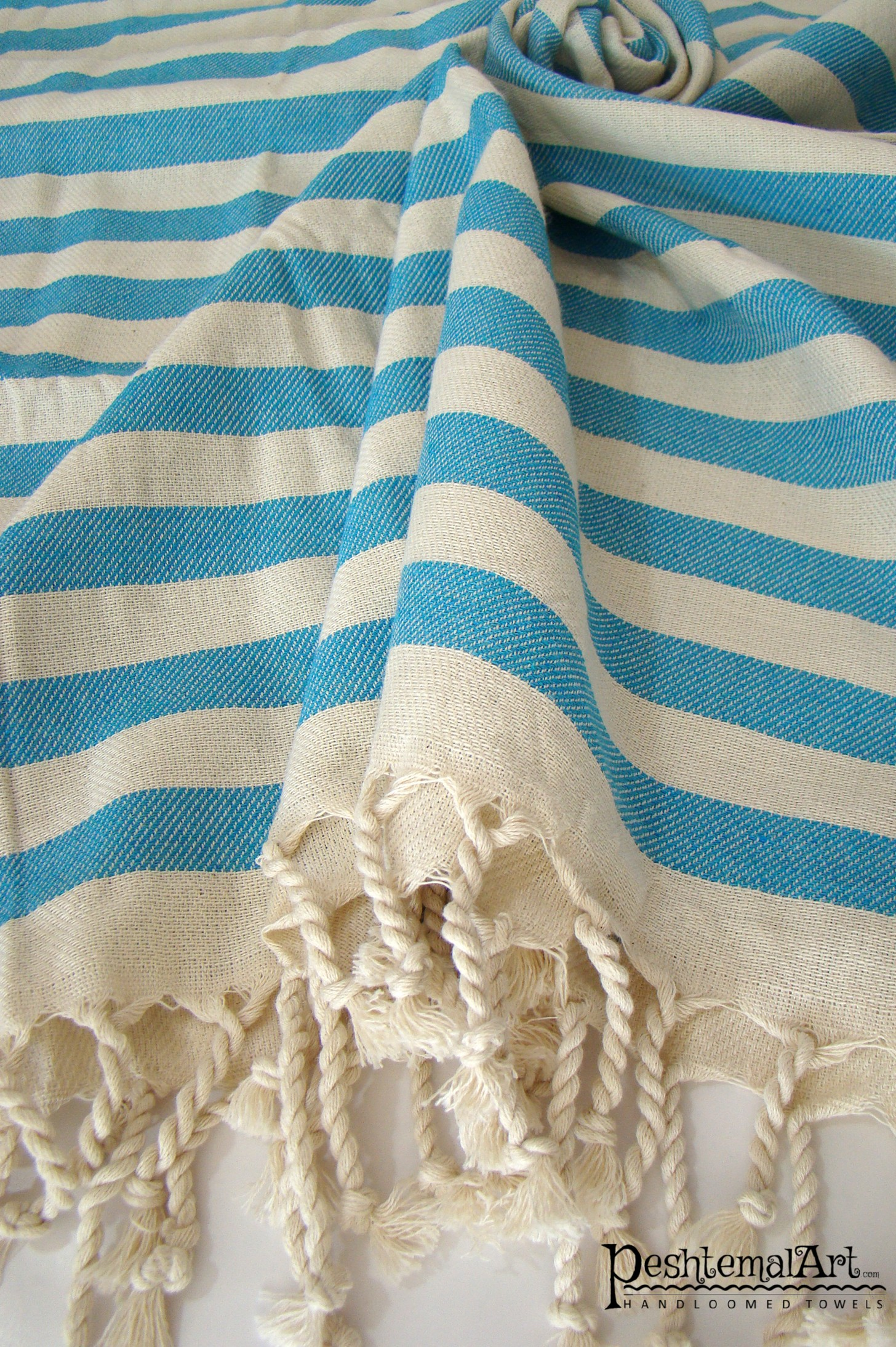 Blue Zebra Beach Towel