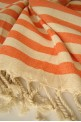Orange Zebra Beach Towel