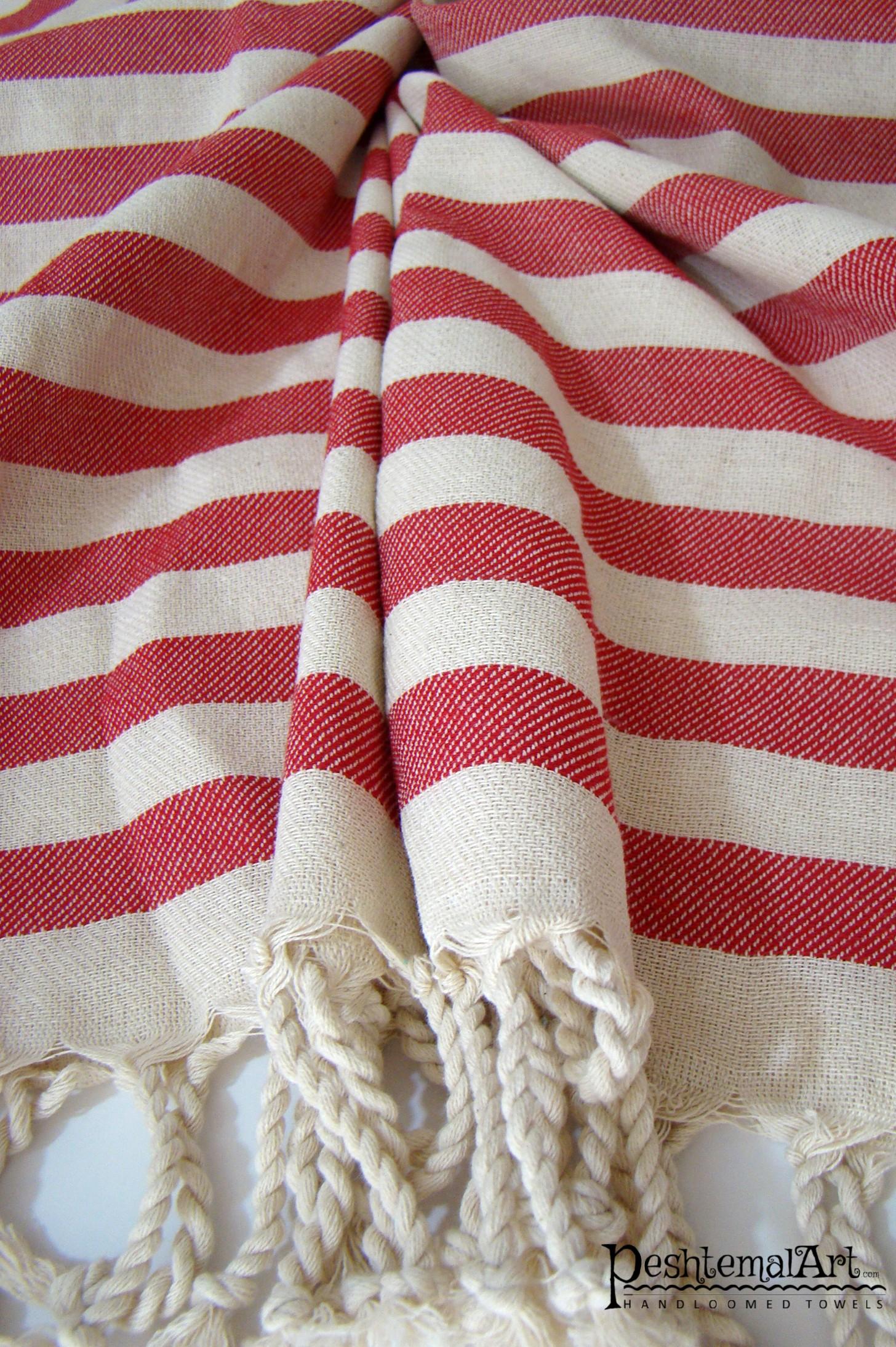 Red Zebra Beach Towel