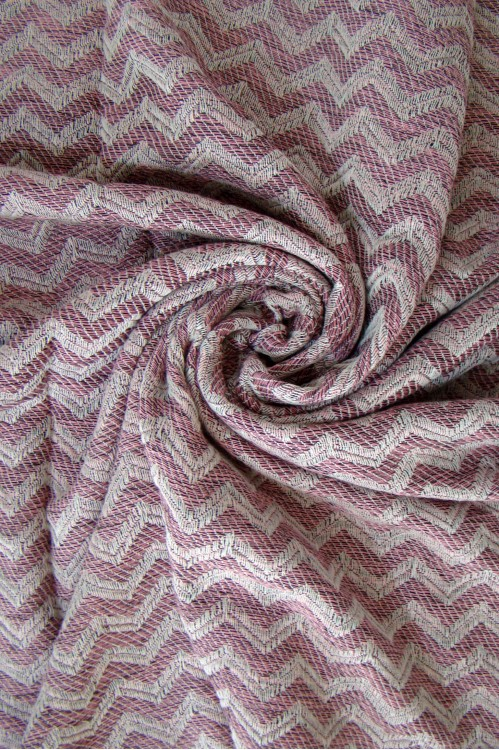 Pink Zigzag Beach Towel