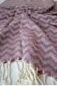 Pink Zigzag Beach Towel